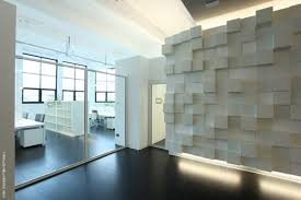 WHite And Clean Office Interior Design With Modern Glass Door - Modern office interior design