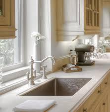 kitchen charming kitchen decoration using dark brown double bowl