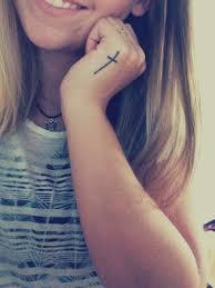 side hand tattoo small cross on side of left hand tattoos crosstattoos