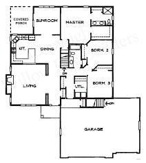 baby nursery split floor plan ranch Ranch House Plans Pleasanton