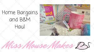 Home Decor Bargains Home Bargains And B U0026m Shopping Haul Youtube