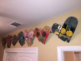 skateboard home design a neat way to display old skateboard decks that have broken made