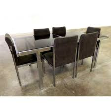 Glass And Chrome Dining Table Smoked Glass And Chrome Dining Table