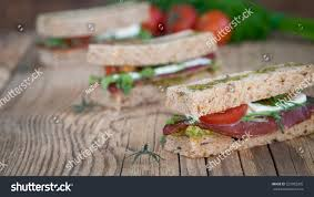 rye bread canapes royalty free canapes sandwich of rye bread on a 529082005 stock
