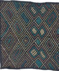 Colourful Upholstery Fabric Kuba Cloth Textile Black With Colorful Design African Home Decor