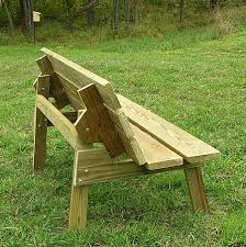Wooden Bench Plan Convertible Bench Table Construction Plans Night Sky Ramblins