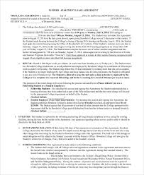 sample apartment lease agreement 8 examples in word pdf