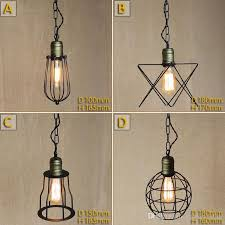Cage Pendant Light Discount Vintage Small Iron Cages Pendant Lighting Ceiling Lamp