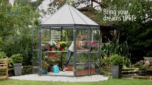 Hobby Greenhouses Palram Oasis Hexagonal Greenhouse Youtube