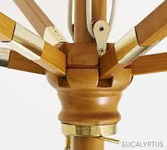 Pottery Barn Patio Umbrella by Premium Sunbrella Wooden Cantilever Umbrella U2013 Stripe Pottery Barn