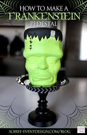 diy halloween ornaments diy halloween decor how to make a frankenstein pedestal soiree