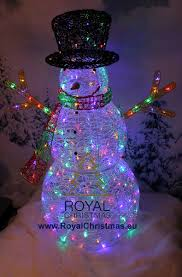 snowman 128 cm 200 led multi color ls 75315 red green