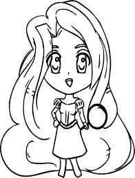chibi manga rapunzel coloring wecoloringpage