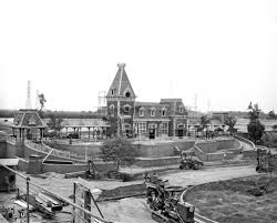 Wishing You A Very Retro by A Very Rare Photo Of The Construction Of The Main Street Station