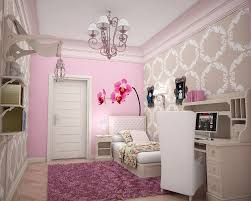 home design pink flower wall for girls room vintage bedroom