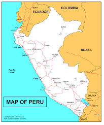 peru on map peru maps a selection of visitors maps of the cities in