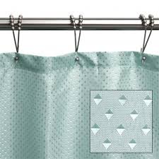 Polyester Shower Curtains Jacquard Polyester Shower Curtain Aqua Bathroom