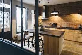 cuisine avec brique charmant cuisine rustique et moderne avec chambre enfant cuisine