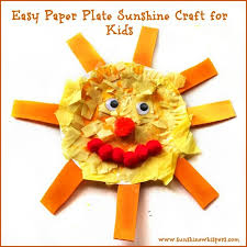Easy Paper Craft For Kids - paper plate sunshine crafts for kids sunshine whispers