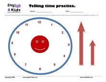 esl kids worksheets telling time worksheets