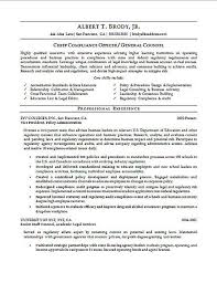 Examples Of General Resumes by Officer Resume Example