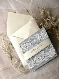 expensive wedding invitations custom listing 20 silver and grey wedding invitation lace ecru
