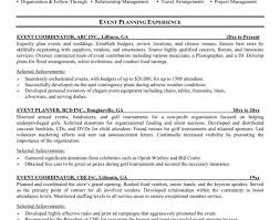 Wedding Planner Resume Reentrycorps by Event Planner Resumes Planner Resume Event Planner Free Resume