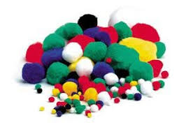 coloured poms 1oo assorted soft craft balls co uk kitchen