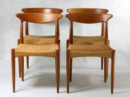 4 Dining Chairs 4 Dining Chairs By Arne Hovmand For Mogens Kold Denmark