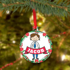 personalized christmas tree ornaments monogram online