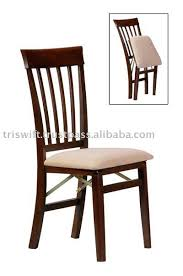 Upholstered Folding Dining Chairs Stakmore True Mission Upholstered Folding Chair Set Of 2 Hayneedle