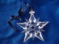 swarovski snowflake ebay