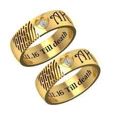 wedding ring names get engagement name and fingerprint engraved gold ring gifts for