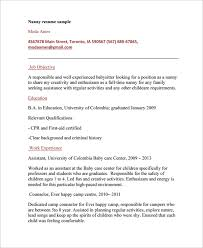 Resume For Nanny Job by Nanny Resume Example Military Resume Example Professional