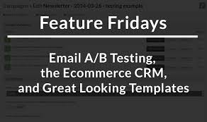 black friday email template feature friday email a b testing the ecommerce crm and testing