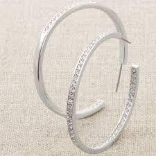 hoop la earrings touchstone by swarovski jewelry home
