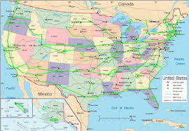 World Map Of Usa by Map Of Us Highways World Map