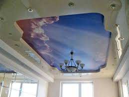 modern ceiling designs with decorative stretch ceiling film