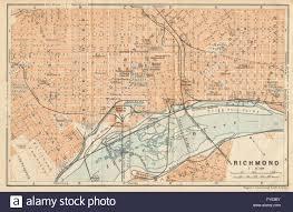 Richmond Va Map Richmond Antique Town City Plan Virginia Baedeker 1904 Antique
