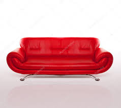 modern red leather couch u2014 stock photo nelka7812 8584416
