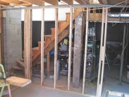 How To Frame A Wall by Basement Stair Framing Home Improvement Blog