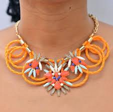 orange statement necklace images Neon orange round statement necklace pinkperfection accessories jpg