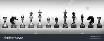 chess set isolated on white 3d stock illustration 72178609