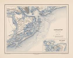 Charleston Sc Map 1875 Map Of Charleston