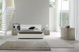 Modern White Bed Frames Modern White Eco Leather Bed