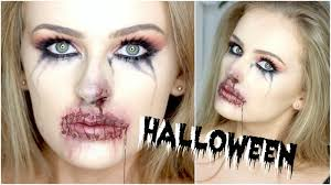 bloody stitched up mouth sfx free halloween makeup youtube