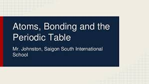 Atoms Bonding And The Periodic Table Atoms Bonding And The Periodic Table