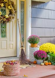 Fall Decorated Porches - front porch ideas to warm up your fall