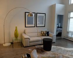 Navy Leather Sofa by Contemporary Condo Living Room With Gray Leather Sofa Overhanging