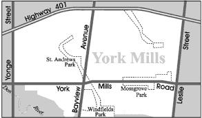 road map of york toronto neighbourhood guide york mills neighbourhoods